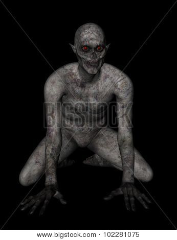 3D render of a demonic figure - ideal for Halloween