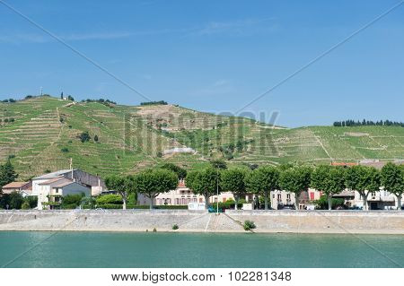 Tournon a riverside village sur Rhone in France