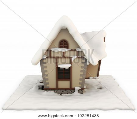 Fabulous House In The Snow