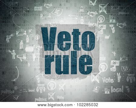 Political concept: Veto Rule on Digital Paper background