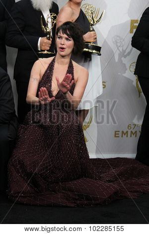 LOS ANGELES - SEP 20:  Lena Headey at the Primetime Emmy Awards Press Room at the Microsoft Theater on September 20, 2015 in Los Angeles, CA
