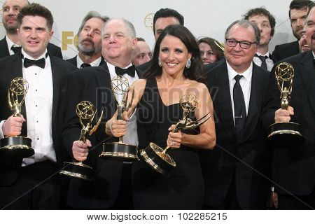 LOS ANGELES - SEP 20:  Julia Louis-Dreyfus, VEEP at the Primetime Emmy Awards Press Room at the Microsoft Theater on September 20, 2015 in Los Angeles, CA