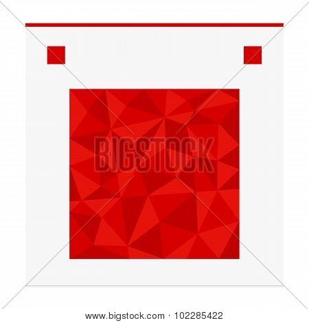 Geometric shape from triangles. Square