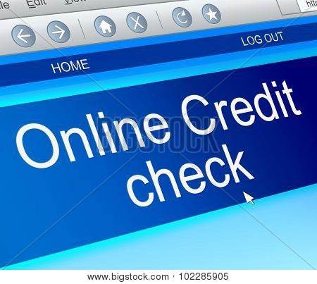 Online Credit Check.