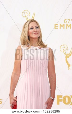 LOS ANGELES - SEP 20:  Edie Falco at the Primetime Emmy Awards Arrivals at the Microsoft Theater on September 20, 2015 in Los Angeles, CA