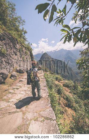Exploring Machu Picchu, Peru, Toned Image