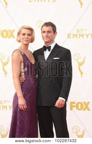 LOS ANGELES - SEP 20:  Claire Danes, Hugh Dancy at the Primetime Emmy Awards Arrivals at the Microsoft Theater on September 20, 2015 in Los Angeles, CA