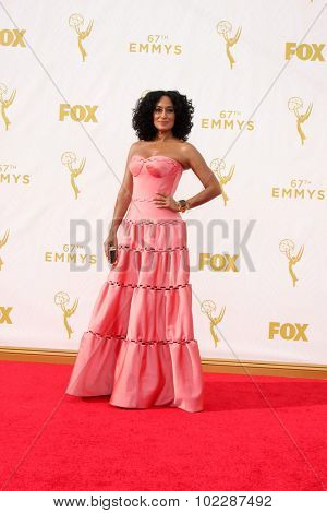 o909LOS ANGELES - SEP 20:  Tracee Ellis Ross at the Primetime Emmy Awards Arrivals at the Microsoft Theater on September 20, 2015 in Los Angeles, CA