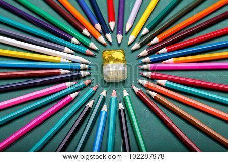 Pencils Around Sharpener