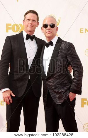 LOS ANGELES - SEP 20:  David Murray, Ryan Murphy at the Primetime Emmy Awards Arrivals at the Microsoft Theater on September 20, 2015 in Los Angeles, CA