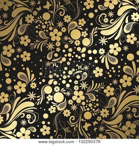 Black And Gold Precious Background