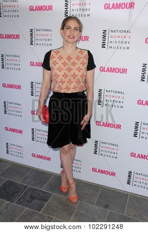 LOS ANGELES - SEP 19:  Anna Chlumsky at the 4th Annual Women Making History Brunch at the Skiirball Cultural Center on September 19, 2015 in Los Angeles, CA