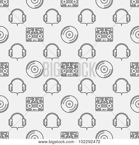 DJ minimal seamless pattern