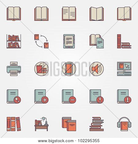 Library colorful icons