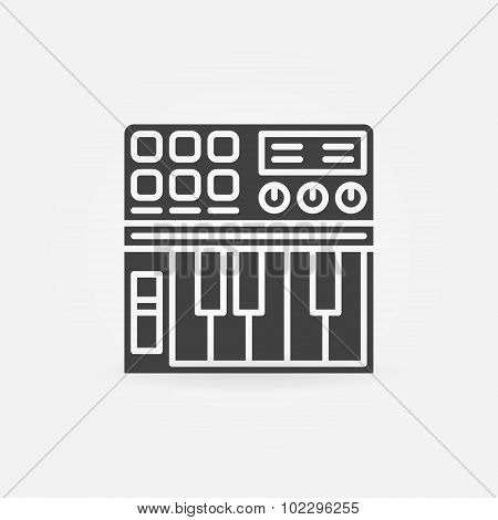 Synthesizer icon or logo