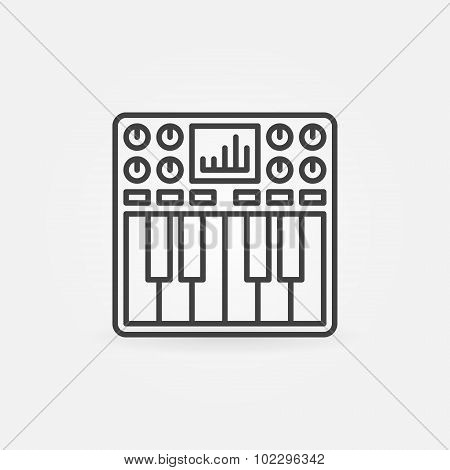 Synthesizer icon or symbol