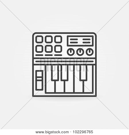 Synthesizer linear icon
