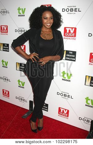 LOS ANGELES - SEP 18:  Jerrika Hinton at the TV Industry Advocacy Awards Gala at the Sunset Tower Hotel on September 18, 2015 in West Hollywood, CA