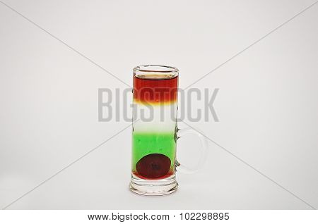 Cocktail Cubina Isolated On The White Background
