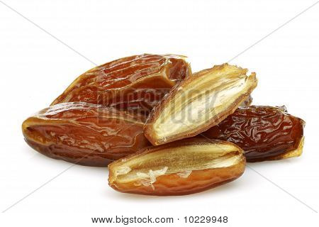 date fruit and a cut one