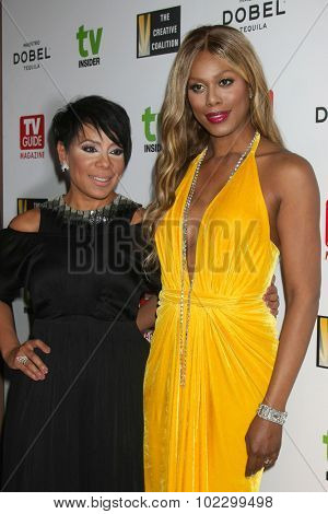LOS ANGELES - SEP 18:  Selenis Leyva, Laverne Cox at the TV Industry Advocacy Awards Gala at the Sunset Tower Hotel on September 18, 2015 in West Hollywood, CA