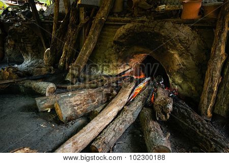 The Furnace Used In Making Pottery From Clay