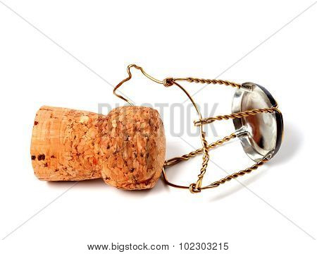 Cork From Champagne Wine And Muselet