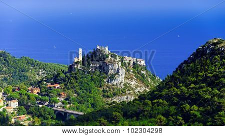 Old Medieval City Eze Near The Sea, Cote D Azur