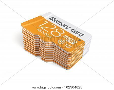 Memory Micro Sd Card Stack
