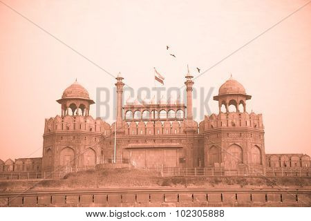 Red Fort, Delhi, India - Monochrome