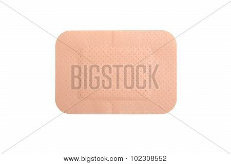 Brown Adhesive Plaster Isolated On White