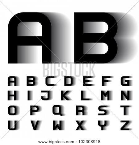 vector speed motion blur font alphabet letters
