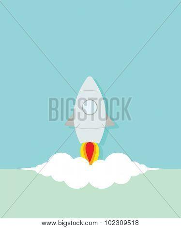 Flat rocket startup