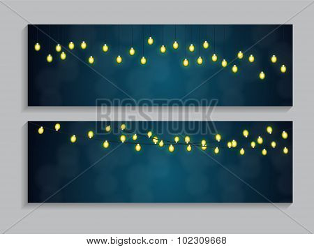 Abstract Beauty Glowing Light Background. Vector Illustration