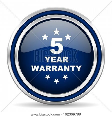 warranty guarantee 5 year icon