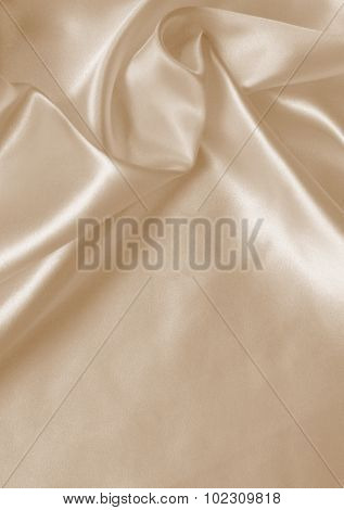 Smooth Elegant Golden Silk As Wedding Background. In Sepia Toned.