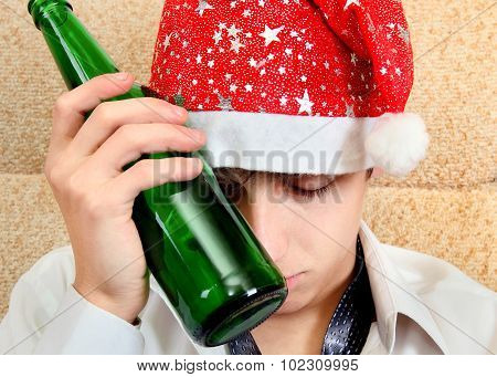 Young Man In Alcohol Addiction