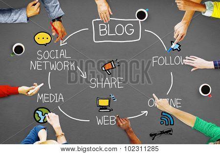 Blog Blogging Connect Data Social Concept