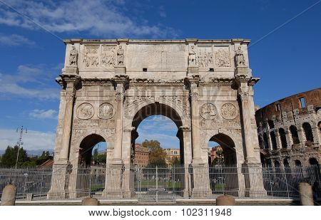 Arch Of Constantine The Great Emperor Of Rome