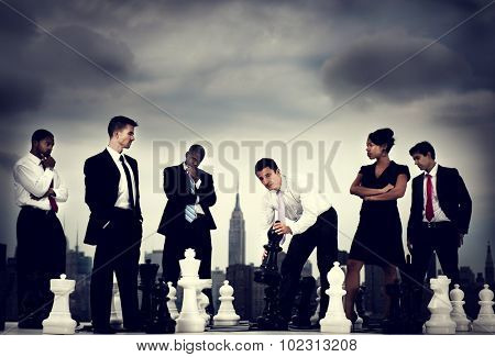 Office Workers Conflict Decisions Contemplation Concept