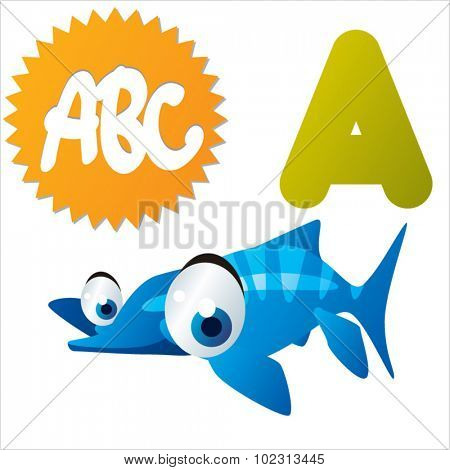 Funny Cute Animals ABC: Swimming Dinos: A is for Acamptonectes