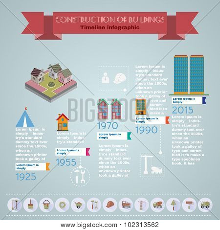 Building Infographic Vector Illustration