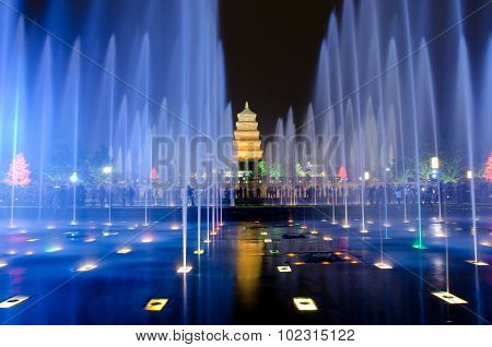 Musical Fountain Show In Xian