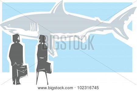Dangerous Shark Meeting