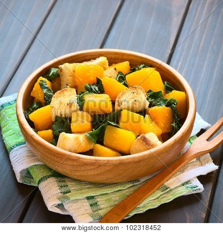 Pumpkin and Chard Salad