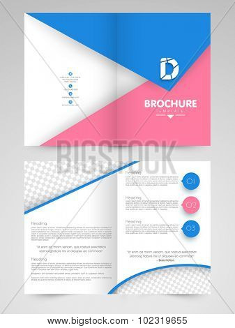 Professional Business Brochure, Template or Flyer design with free space for your image and text.