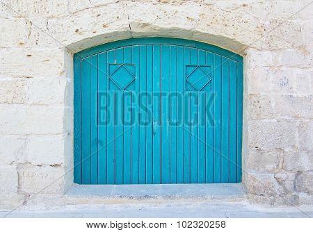 Turquoise Blue Wood Door
