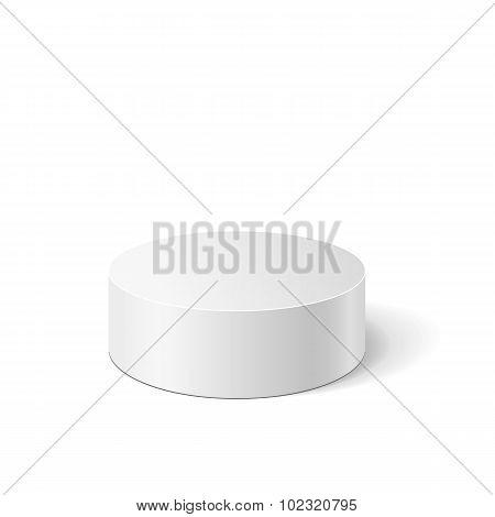 Vector white cylinder