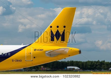 Monarch Airlines Airbus A321 Tail