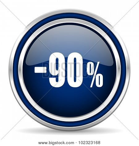90 percent sale retail icon